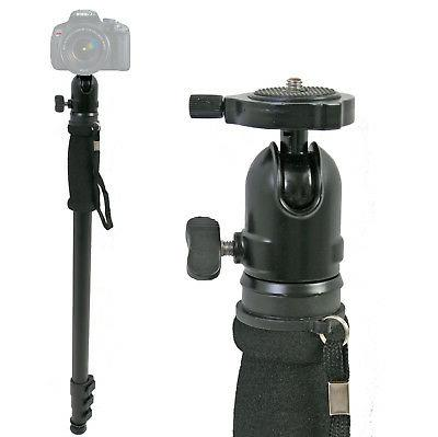 69 adjustable monopod w ball head camera