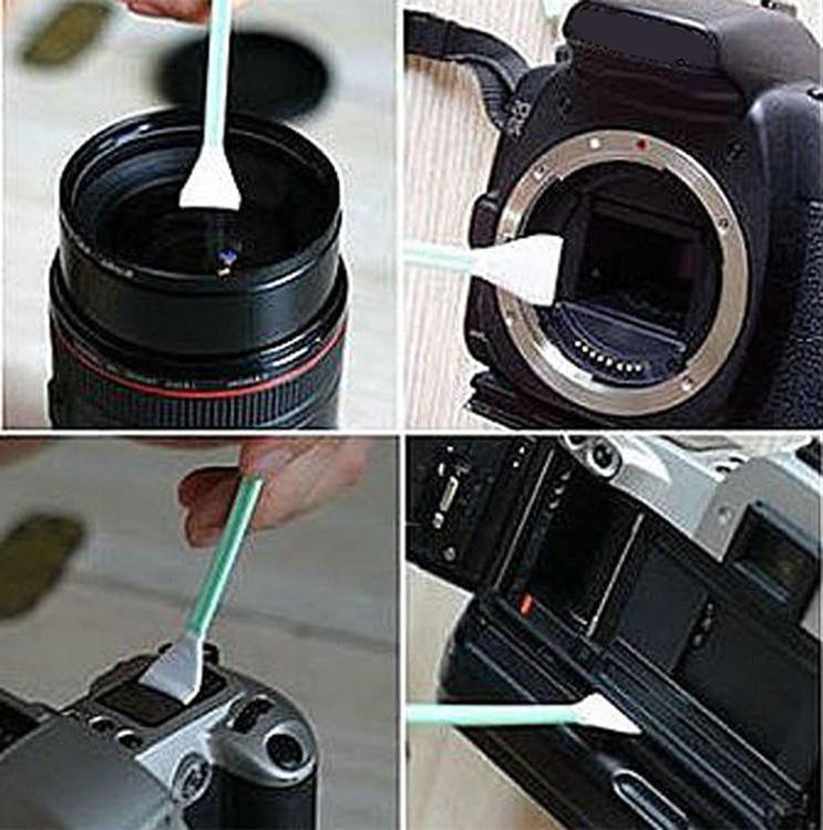 6X Wet Lens Cleaning Cleaner Swab Camera DSLR SLR