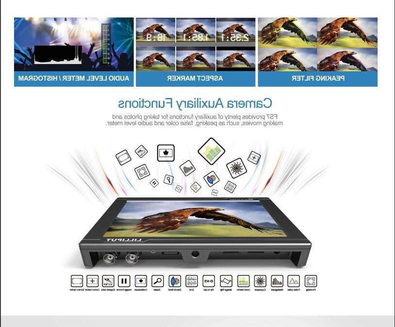 """Lilliput 7"""" HDMI 3G-SDI Camcorder DSLR"""