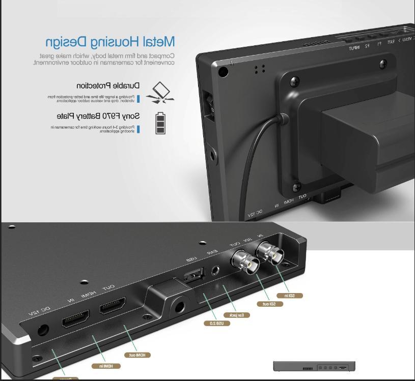 Lilliput FS7 Broadcast Monitor 4K HDMI Camcorder DSLR