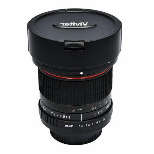 Vivitar Lens For Nikon DSLR Digital SLR Cameras Fish-Eye New!