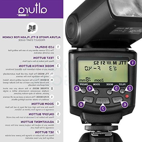 Altura Studio Flash E-TTL Flash AP-C1001, Wireless Flash Trigger and