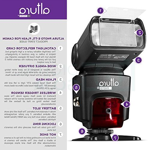 Altura Flash Kit for DSLR with 2pcs E-TTL AP-C1001, Dual Wireless Flash and Accessories