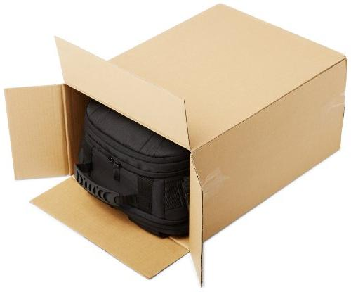 AmazonBasics and Backpack Gray interior