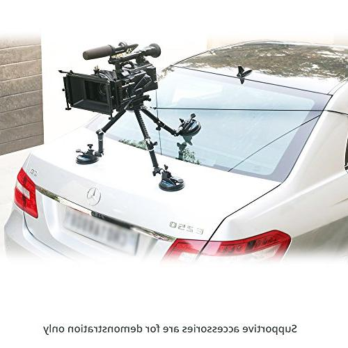 CAMTREE G-51 Campod Car Mount Stabilizer Suction Cup for DSLR Video Camera 4kg/9lbs | FREE Cable Bag