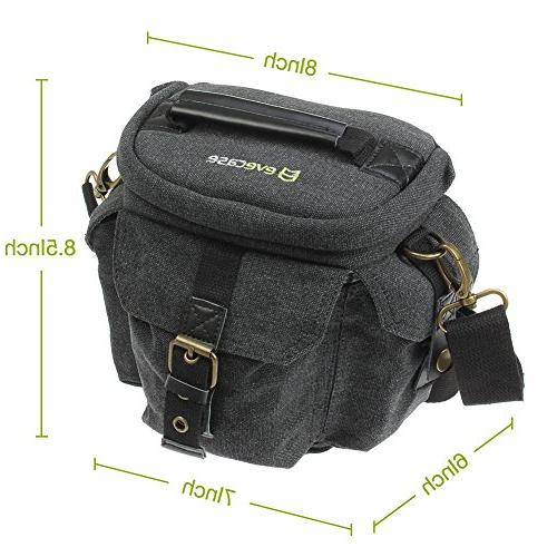Camera DSLR/SLR Carrying - Gray Small Canvas for System, High Power Instant
