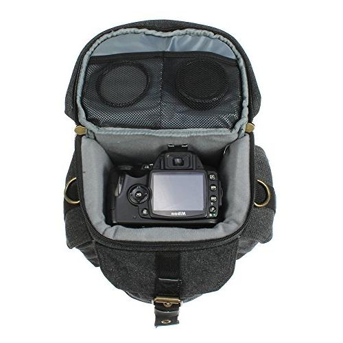Camera Bag DSLR/SLR Digital Holster Carrying Case Small System, Micro 4/3, Mirrorless, High Power Zoom Instant Camera