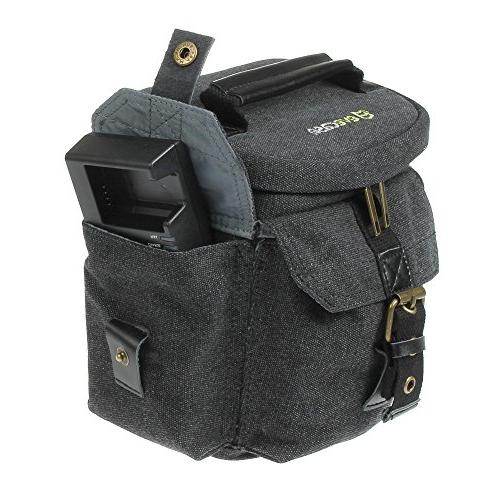 Camera Bag Evecase Compact Carrying Case - Small Canvas System, Micro 4/3, Mirrorless, High Power Zoom Instant Camera