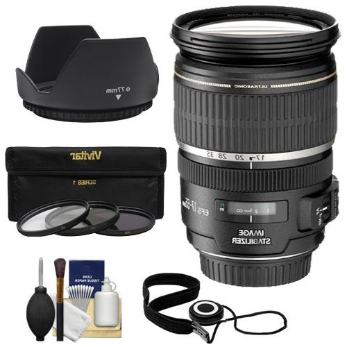 Canon EF-S 17-55mm f/2.8 IS USM Zoom Lens with 3 UV/CPL/ND8