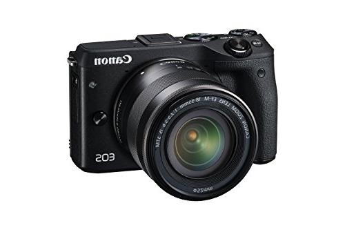 Canon EOS M3 Camera Kit 18-55mm Stabilization Lens Wi-Fi
