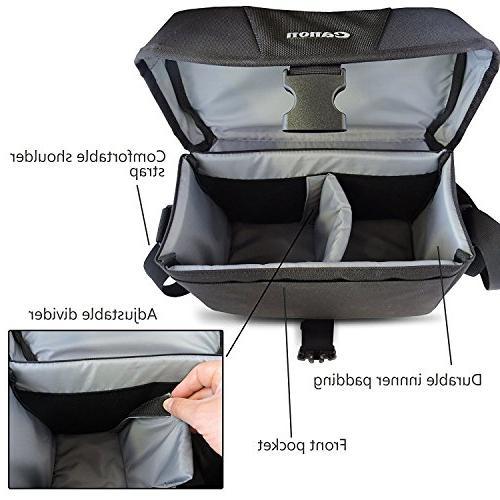 Canon Well Multi Camera Bag Adjustable Shoulder Strap HeroFiber Gentle Cloth for Digital