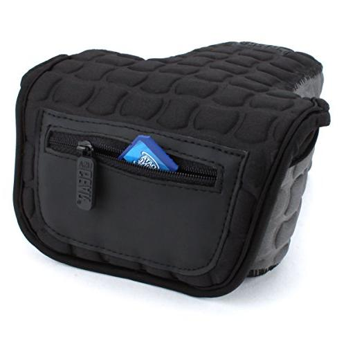 DSLR SLR Sleeve X Padded Neoprene Protection, Caribiner Clip & Accessory Storage by Gear Works With Nikon EOS Rebel SL2 / Pentax