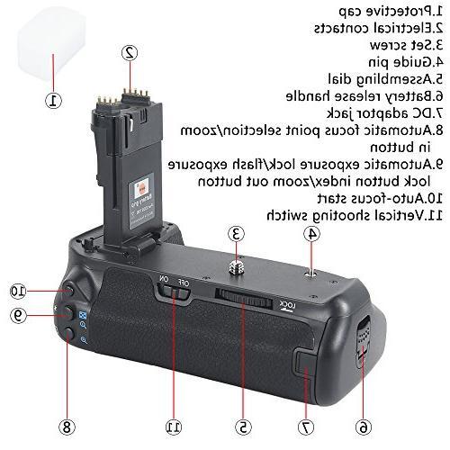 DSTE Pro Battery LP-E6 Canon EOS 70D Digital Camera