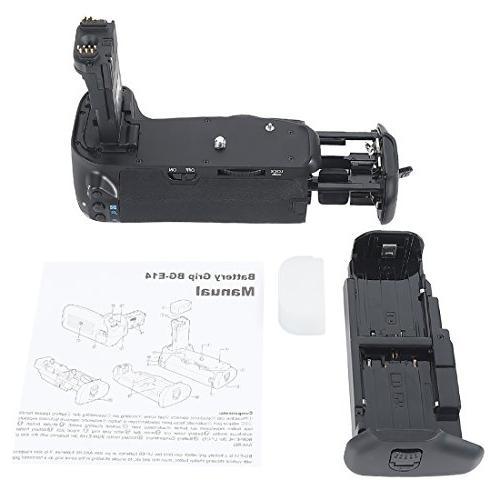 DSTE Pro Vertical Battery Grip + LP-E6 EOS 70D 80D SLR Digital