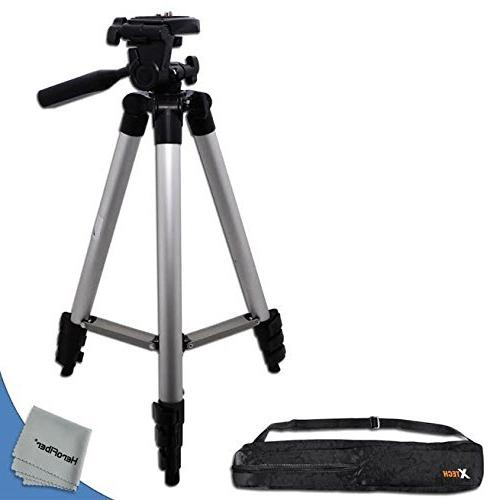 Durable Pro Series 60 inch Full size Tripod with 3 way Pan-H