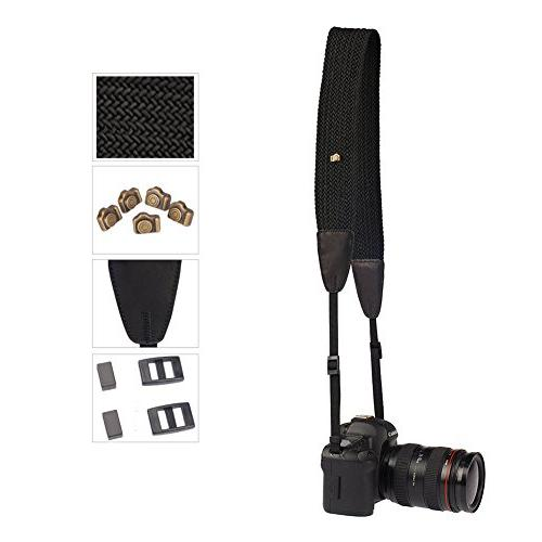 Eggsnow Camera Neck Strap Knit Broaden Universal Camera Strap with Connect Buckle Men DSLR Nikon Canon Sony Olympus