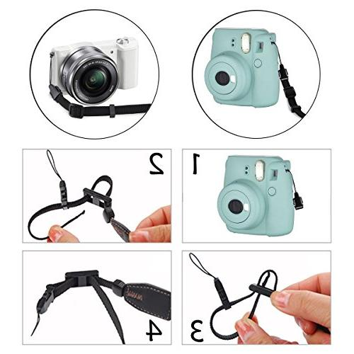 Eggsnow Camera Shoulder Strap Universal Camera Belt Connect Buckle for Men DSLR Nikon Canon Samsung Samsung-Black