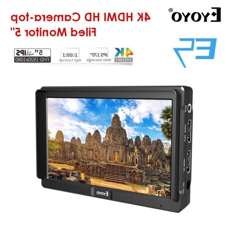"Eyoyo 5"" Slim On-camera Video Field HDMI Canon"