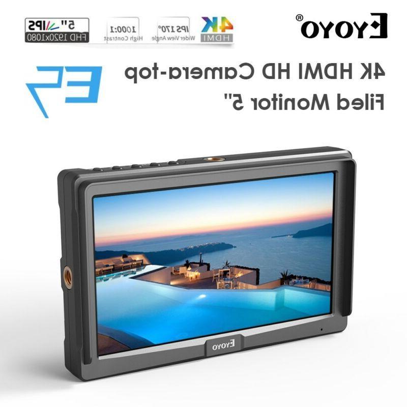 "Eyoyo 5"" Ultra Slim Video HDMI For DSLR Canon"