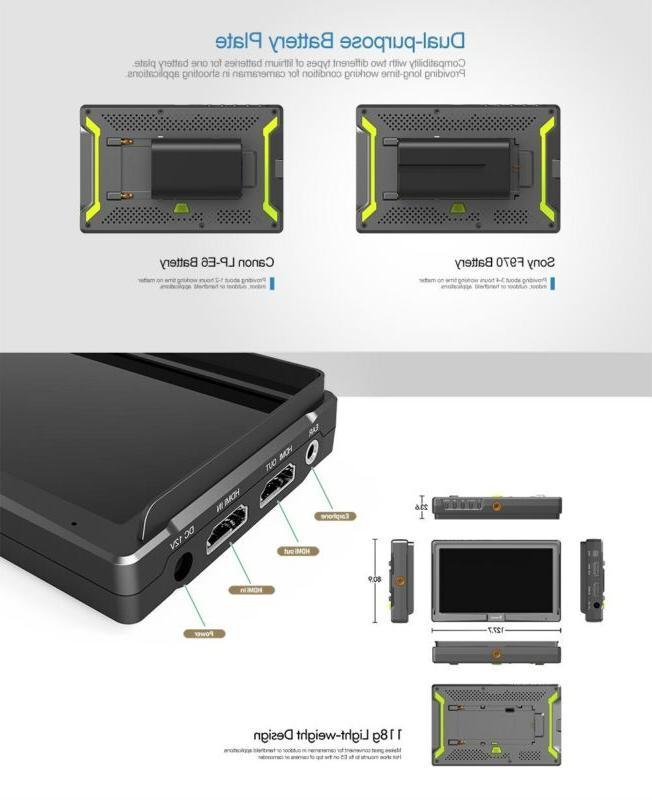 """Eyoyo 5"""" Ultra HDMI For DSLR Zhiyun Canon"""