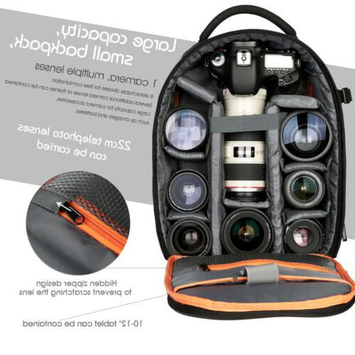 K&F Concept DSLR SLR Camera Backpack Bag Case Lightweight Wa