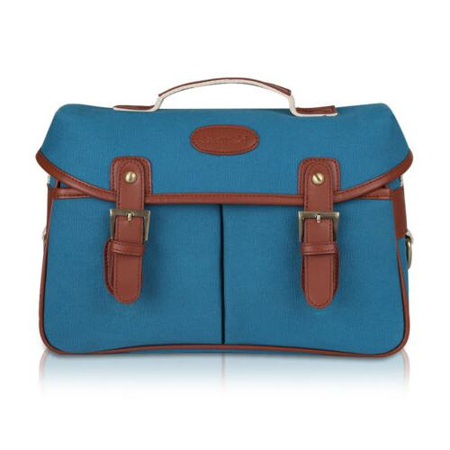 Camera Bag Cowhide Leather DSLR SLR Shoulder Sling
