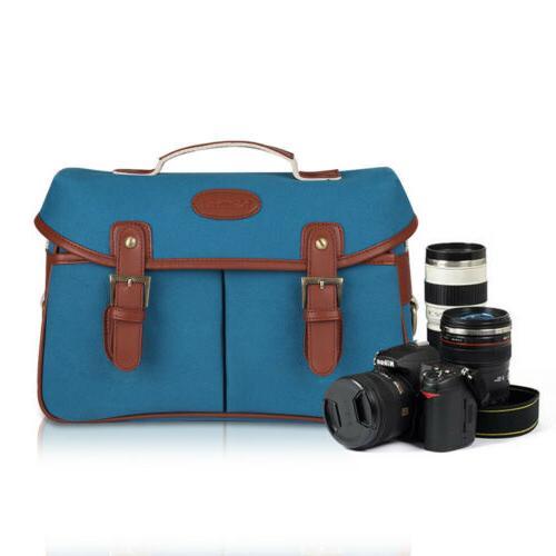 camera bag soft cowhide leather dslr slr