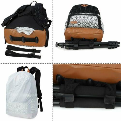 Women's Shockproof DSLR Bag Case Travel Backpack For Canon