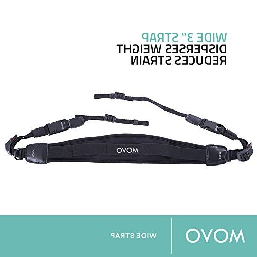 Movo Photo Padded Neoprene Camera Strap with Quick