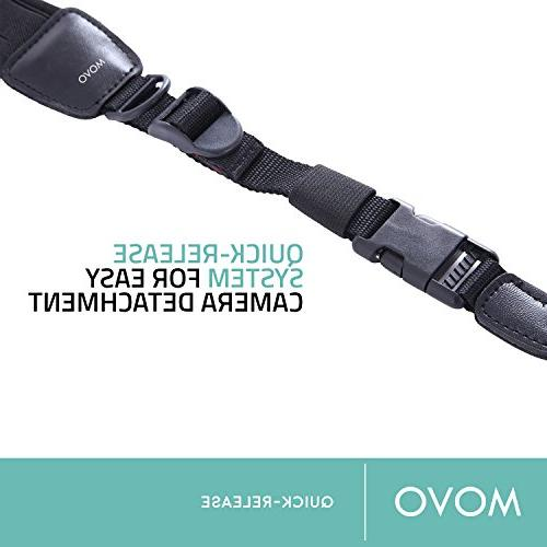 Movo Photo Padded Neoprene Camera Strap Quick