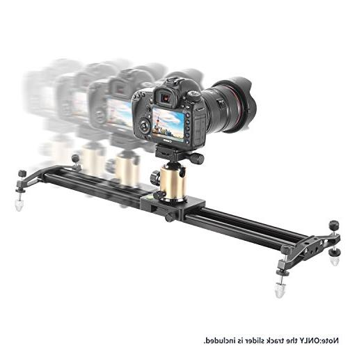 Neewer 47 inches/120 Aluminum Alloy Slider Rail for Camera Video Load 11 pounds/5 kilograms