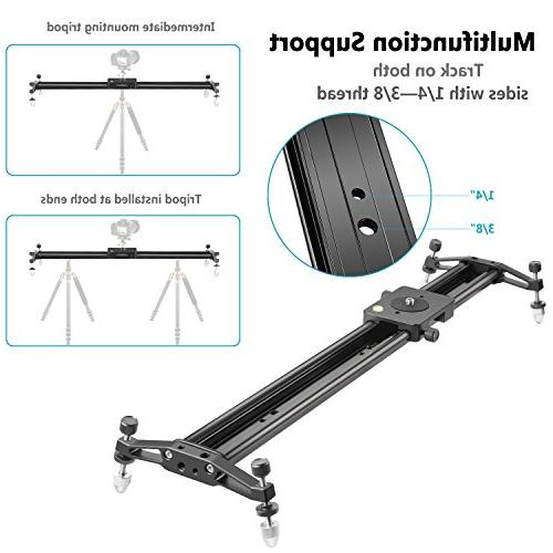 Neewer 47 inches/120 Aluminum Camera Slider Stabilizer for Video Film Load