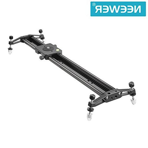 Neewer 47 inches/120 Aluminum Alloy Camera Slider for DSLR Video Film Photography, Load up pounds/5 kilograms