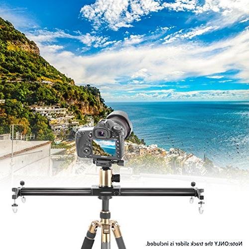 Neewer inches/120 Aluminum Track Slider Stabilizer Rail for Video Film Photography, Load up 11 pounds/5 kilograms