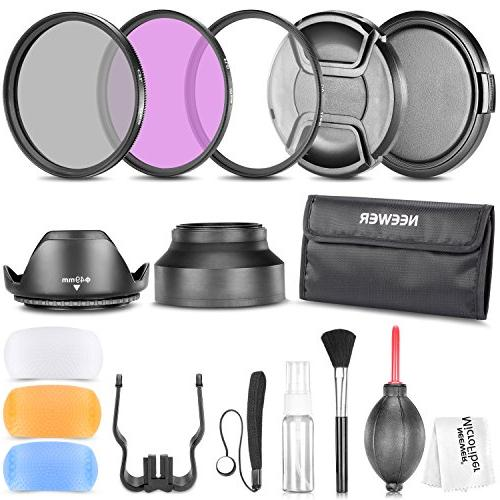 Neewer 49MM Professional Accessory Kit for Canon EOS 400D/ X