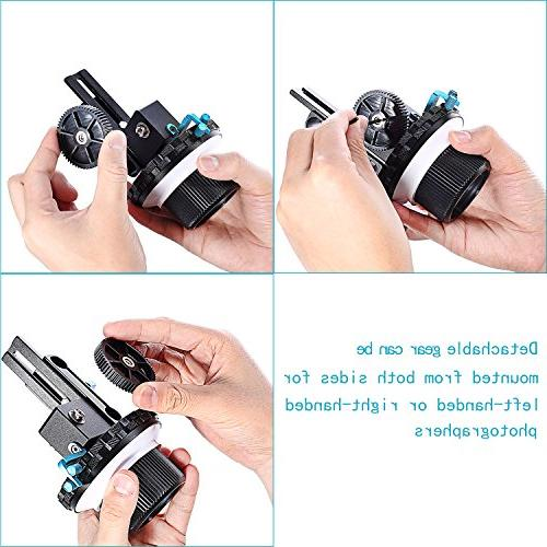 Neewer Stop Focus Ring DSLR Cameras Such DV/Camcorder/Film/Video Mounts,Shoulder Supports