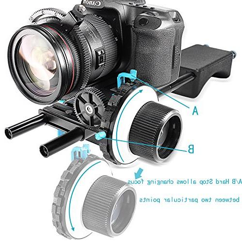 Neewer Focus C2 Ring Cameras Such Nikon,Canon,Sony DV/Camcorder/Film/Video 15mm Mounts,Shoulder