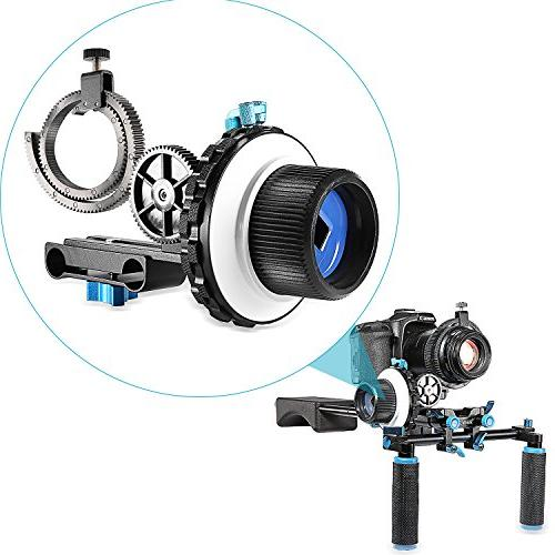 Neewer Stop Focus Ring for Cameras as Nikon,Canon,Sony DV/Camcorder/Film/Video Rod Mounts,Shoulder Supports