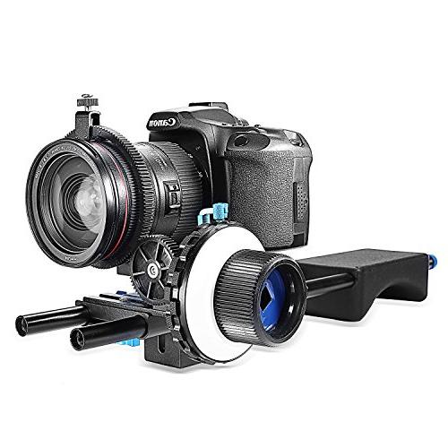 Neewer A-B Follow Focus Ring Belt for Cameras as DV/Camcorder/Film/Video Cameras,Fits Rod Mounts,Shoulder Supports