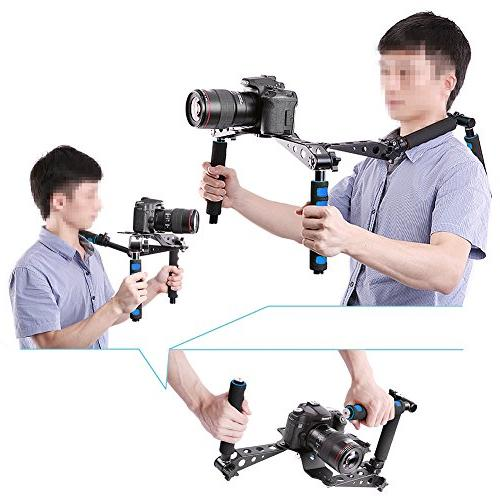 Neewer Aluminium Alloy DSLR Movie Film Making Mount Support Rig Stabilizer for Canon Nikon Sony Fujifilm Digital Cameras and Camcorders