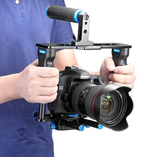 Neewer Alloy Video Cage Film Making Handle Canon 5D mark III 700D D7200 Pentax