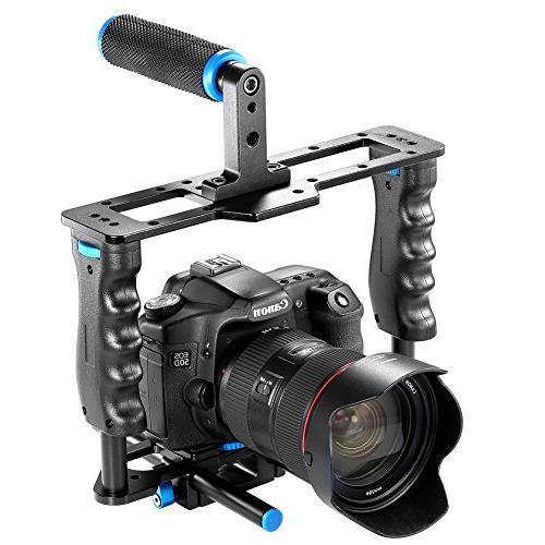 Neewer Aluminum Alloy Camera Video Film Making Kit Handle Grip15mm Rod DSLR Canon II III D7200 Sony Olympus