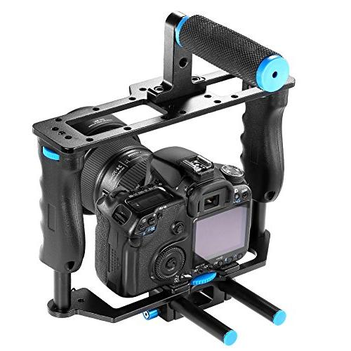 Neewer Making Kit include:Video Handle Rod DSLR Cameras as Canon mark III 700D D7200 Pentax