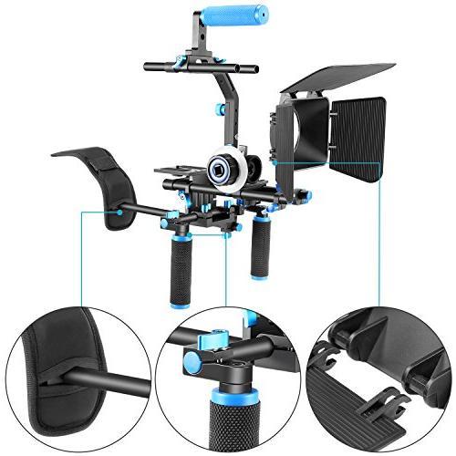 Neewer DSLR Rig Set Movie Film Making DSLR Camcorders,Include:Shoulder Focus+Matte Bracket and Handle