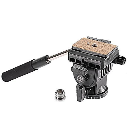 Neewer Video Camera Tripod Fluid Drag Pan Head with 1/4 inch