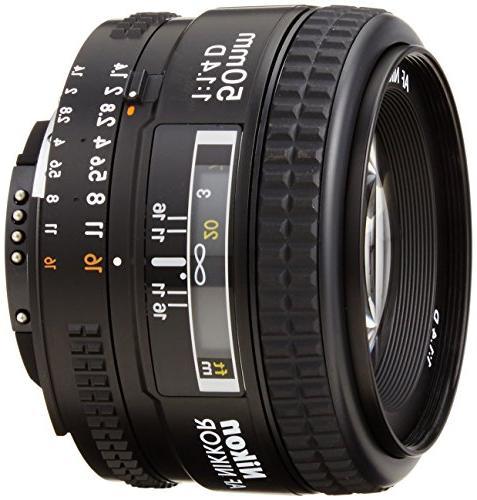 Nikon AF FX NIKKOR 50mm F/1.4D DSLR Lens with Auto Focus for