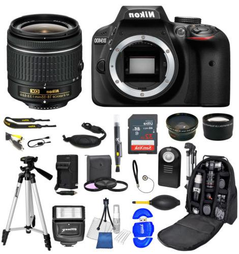 Nikon D3400 DSLR Camera + AF-P 18-55mm  32GB + Backpack Valu