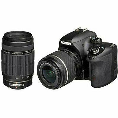 Pentax K-50 DSLR Camera with 18-55mm WR and 55-300mm Lenses