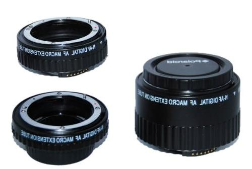 Polaroid Auto Focus DG Macro Extension Tube Set  For The Nik