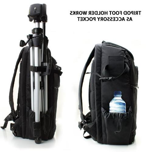Professional Camera Photo Strap , , Tripod Lens and Accessory for Canon EOS T5 T6i and More Digital SLR Cameras
